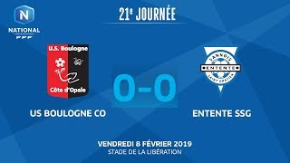 J21 : US Boulogne CO- Entente SSG (0-0), le résumé I National FFF 2018-2019