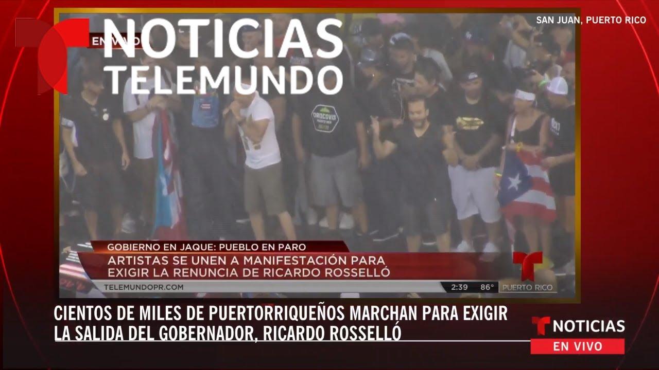 EN VIVO: Cientos de miles de puertorriqueños marchan para exigir la salida  del gobernador Rosselló