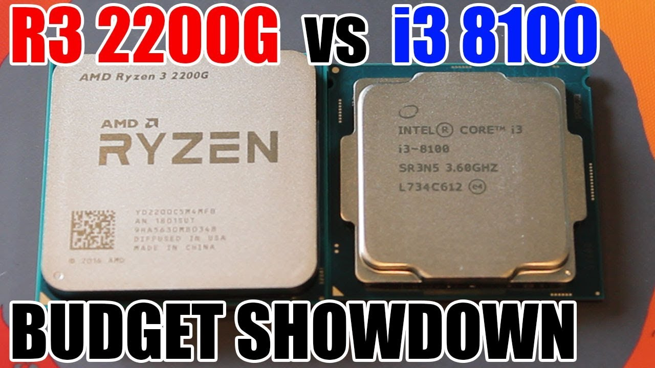 AMD Ryzen 3 2200G vs Intel i3 8100 Showdown - Price To Price Comparison!