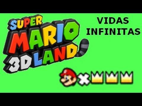 Super Mario 3D Land Vidas Infinitas