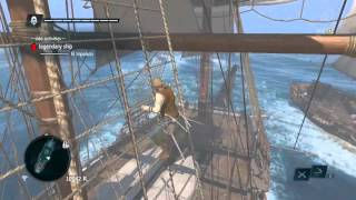 How to Easily Defeat Legendary Ship -El Impoluto- in Assassins Creed 4 Black Flag no upgrades