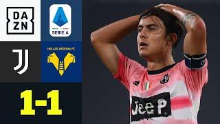 Die Alte Dame im Alu- und VAR-Pech: Juventus Turin - Hellas Verona 1:1 | Serie A | DAZN Highlights