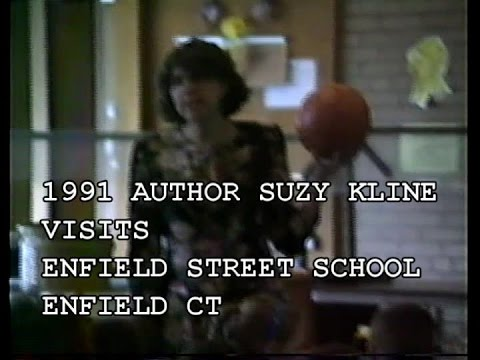 1991 AUTHOR SUZY KLINE VISITS ENFIELD STREET SCHOOL IN ENFIELD CT