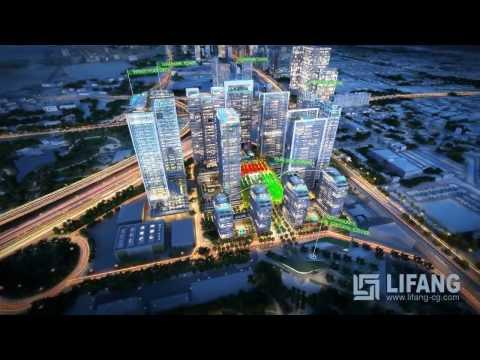 Dubai 49th District Mixed Use Architectural CGI Animation