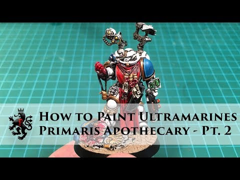 How to Paint Ultramarines - Primaris Apothecary - Part 2 - Gemstone Paints