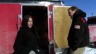 Sen. McBroom talks to UP 200 musher Jaye Foucher