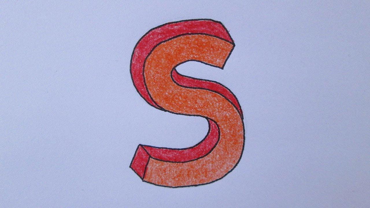 como desenhar a letra s youtube
