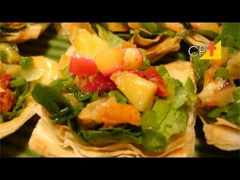 Produção de Salgados Finos para Festas - Receita de Salada Crocante