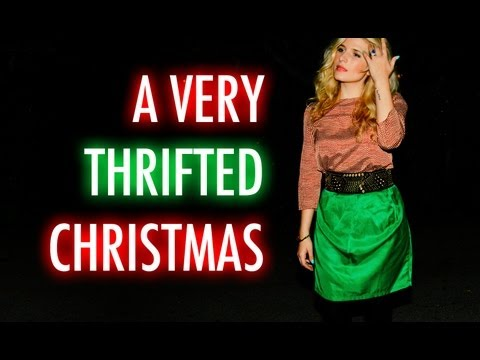 A Very Thrifted Christmas with Mr. Kate – Thrift Store Gifts, Decor and Outfit