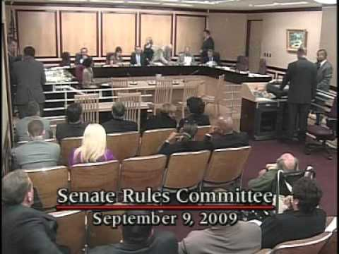 Senate Rules Committee - (Part 2) 9/9/2009