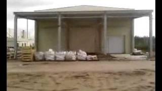 видео Арочные ангары, монтаж и изготовление металлоконструкций