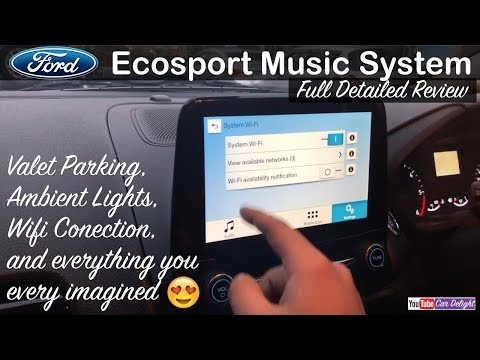 New Ford Ecosport Facelift 2017 Music System Full Review | Internet Wifi,Ambient Light,Valet Parking