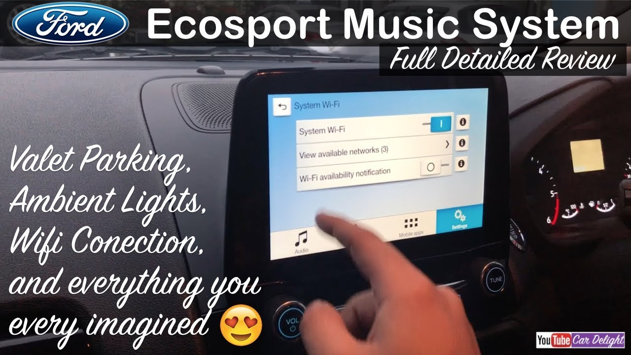 New Ford Ecosport Facelift 2017 Music System Full Review