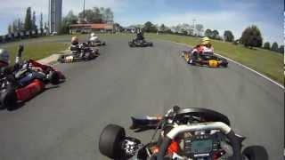 Vidéo caméra embarqué GOPRO course de Karting Vs handikart - Sodi ST32 125 Rotax