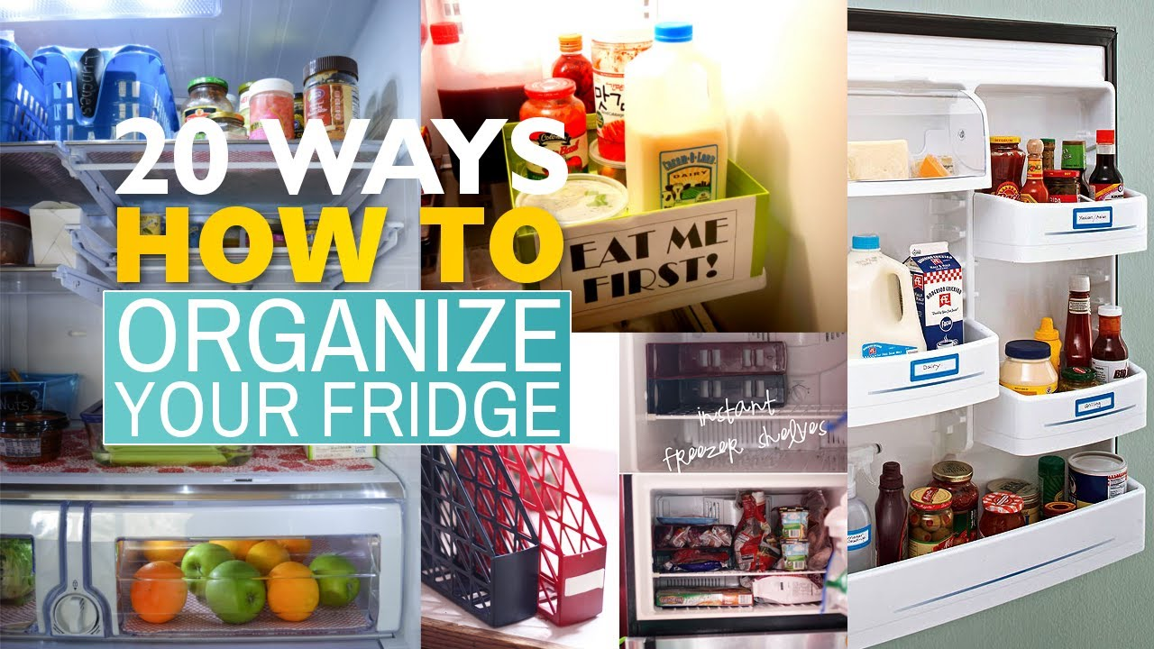 20 Tips How to organize your Refrigerator - YouTube