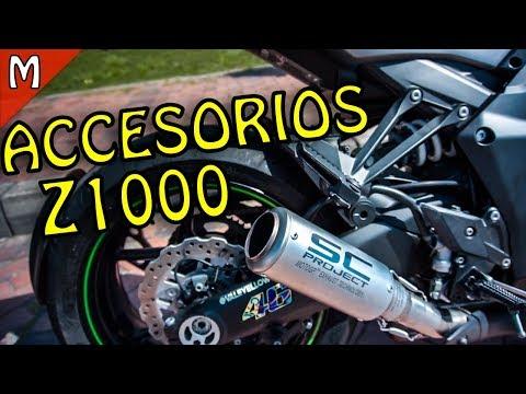 ACCESORIOS PARA KAWASAKI Z1000 | estabilizador de dirección 😱