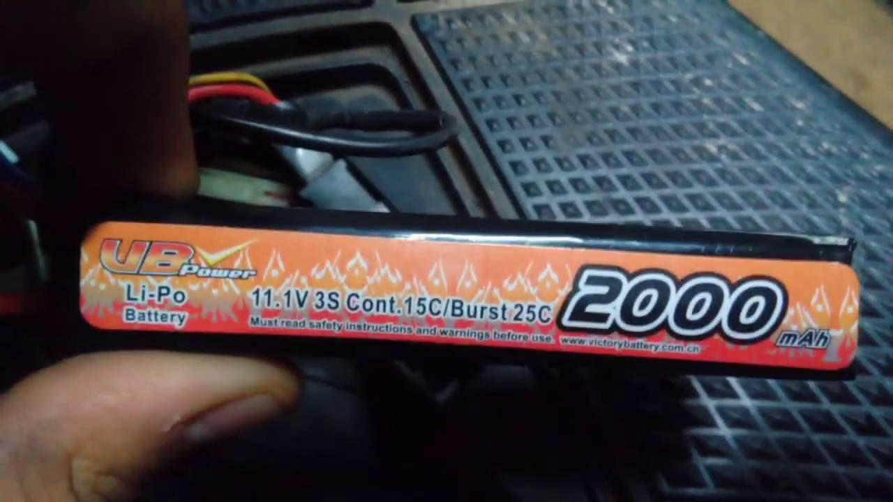 Установка аккумулятора со страйкбольного оружия на Suzuki Let's 2