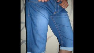 Как из джинсов  сделать шорты видео. Джинсы превращаются...(Если Вам интересно как из мужских джинсов сделать шорты с отворотом из цветной ткани- это видео для Вас...., 2015-07-04T12:33:51.000Z)