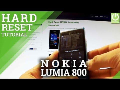 Hard Reset NOKIA Lumia 800 - How to Format NOKIA Lumia