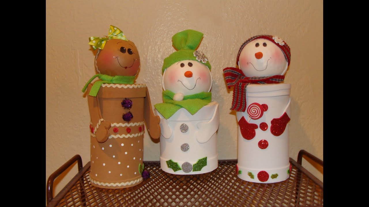 diy dulceros navideos con material reciclado christmas candy holders youtube