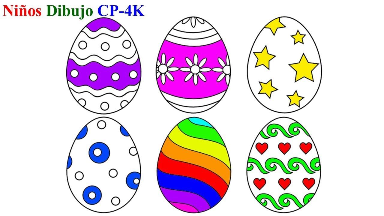 Aprender colores con huevos de Pascua para colorear | Cómo dibujar ...