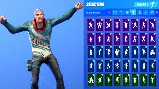 VENDETTA TEAL/RED STAGE 1 SKIN SHOWCASE WITH ALL FORTNITE DANCES & EMOTES