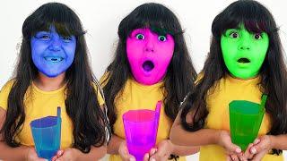 İlkim Sihirli içecekler مشروبات سحرية ، قصص مضحكة للأطفال ، تعلم الألوان