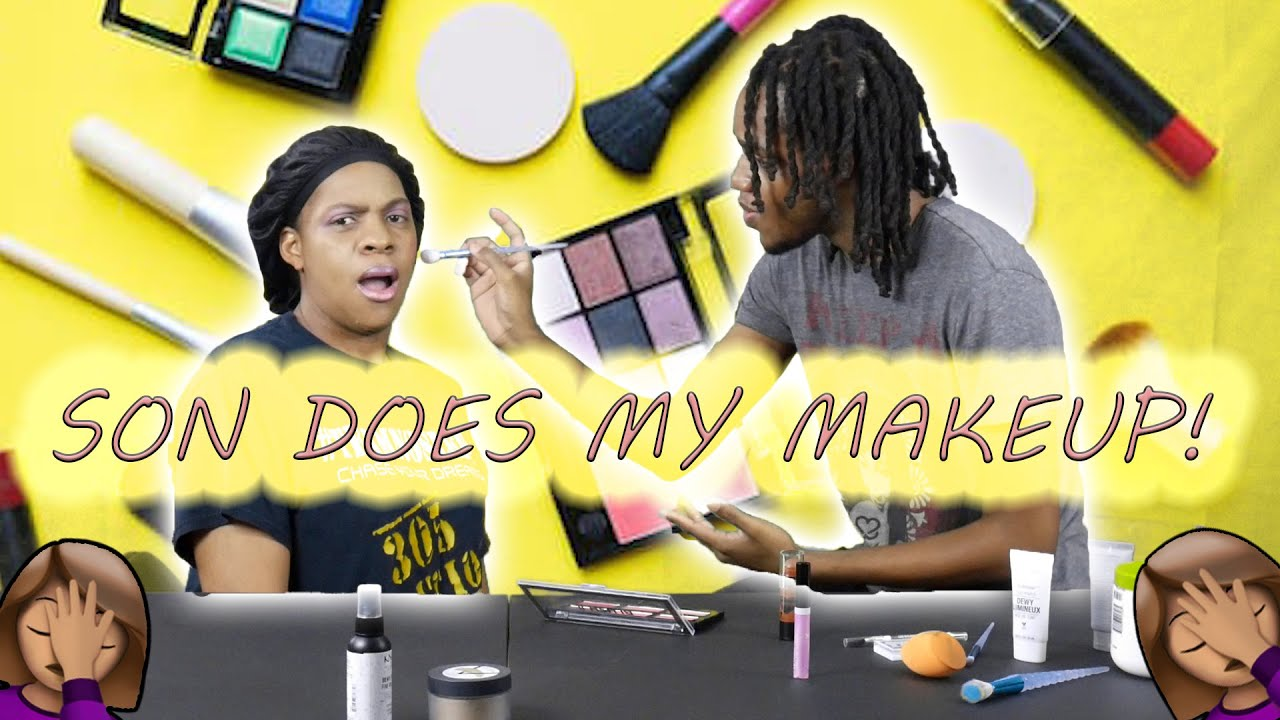 Son Does Mom's Makeup