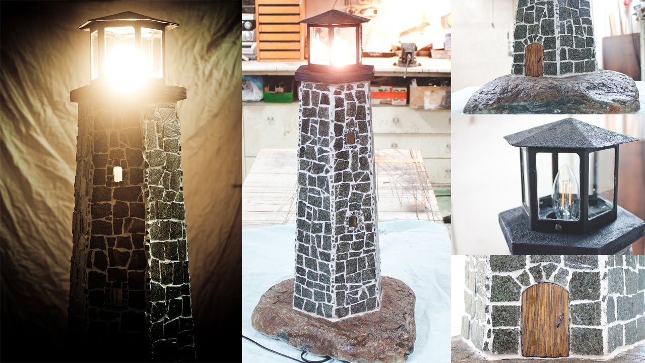 Lighthouse Natural Stone : Lighthouse lamp from natural stone youtube