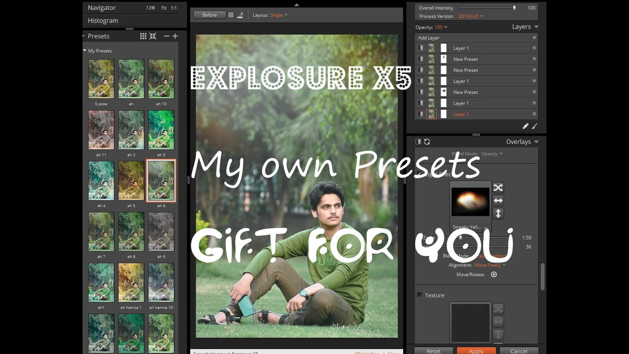 Explosure X5 My Own Presets Gift For You