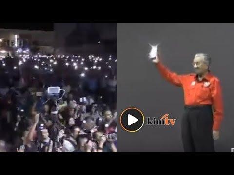 Ribuan rakyat Parit 'lambai' cahaya pada Dr M