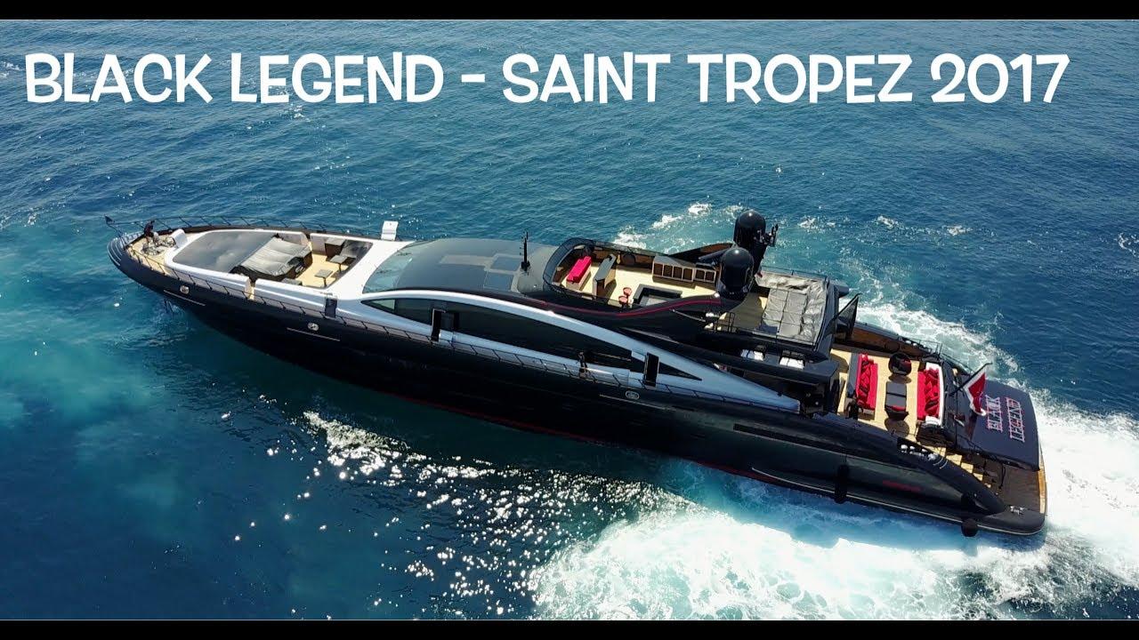 33 Million Yacht Black Legend Mangusta 49 9 Meters Saint Tropez 2017