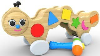 Learn Shape with Caterpillar Wooden Toy