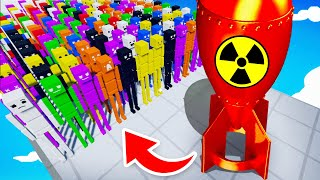 How Many Ragdolls Can The NEW SUPER NUKE Destroy? (Fun With Ragdolls: The Game Funny Gameplay)
