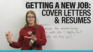 Find a NEW JOB in North America: Cover Letter & Resume Advice