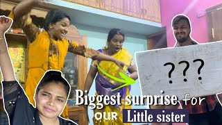 Surprising Our little sister | Hugee Family surprise ( She Loved it )