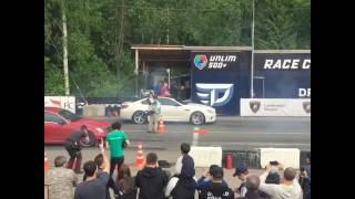 BMW M6 Evotech st2 720+ hp VS Mercedes c63 weistec st3 725+ hp Moscow Unlim 500+ 22.05.2016