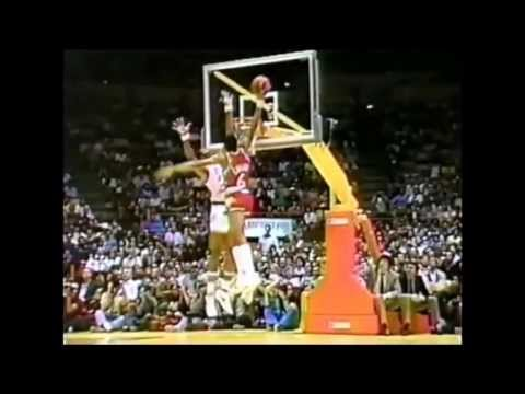 Dr. J Throws it Down Over Artis Gilmore (1983 ASG)