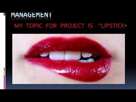 MARKETING PROJECT ON LIPSTICK for class 12 commerce