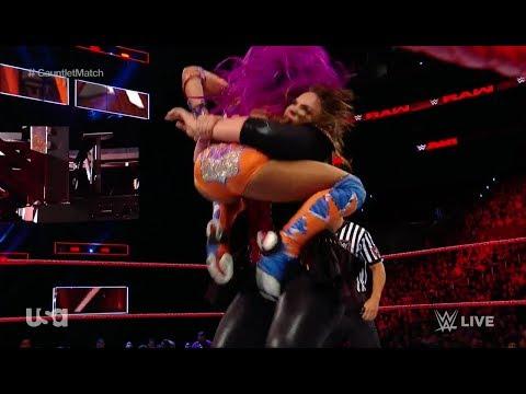 WWERaw Women's Gauntlet Nia Jax Bayley Sasha Banks Mickie James Emma Dana Alexa Bliss