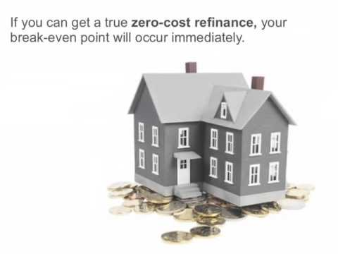 Break Even Point on Mortgage Refinancing