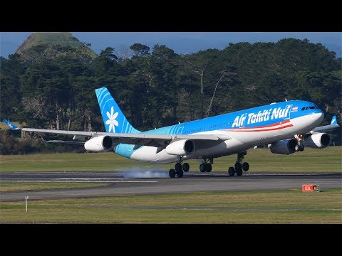 500th VIDEO!!! Auckland Airport Plane Spotting Compilation Feat. A380, 787, A350, KC-390, A340