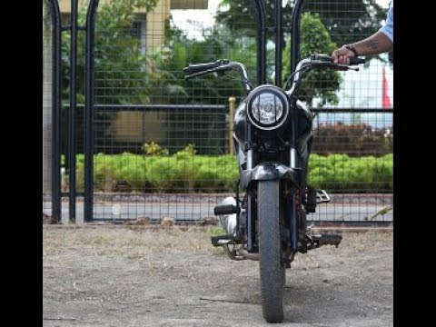 modified hero glamour bike at home