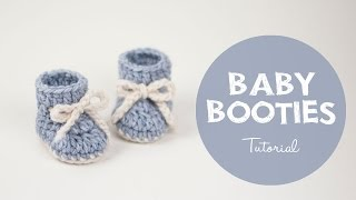 How To Make a Cute and Easy Baby Booties - Winter Snowflake   Croby Patterns