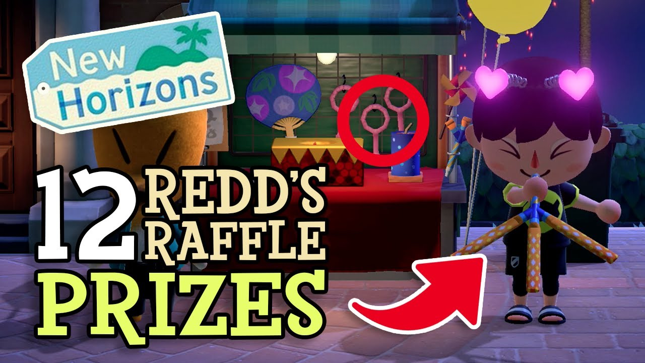 Animal Crossing New Horizons: 12 REDD'S RAFFLE PRIZES (Complete Firework Festival Guide - August)