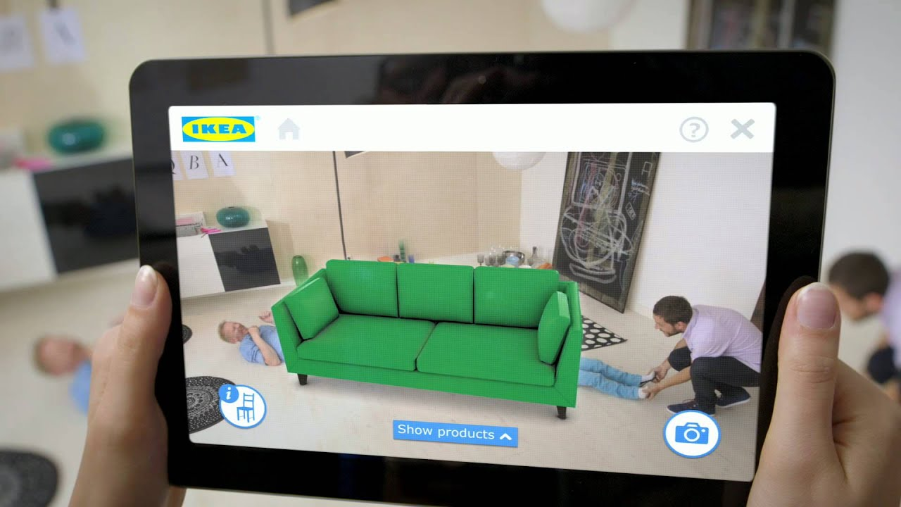 place ikea furniture in your home with augmented reality youtube. Black Bedroom Furniture Sets. Home Design Ideas
