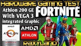 Athlon 200GE Fortnite 720p 1080p TEST RAXYLAND