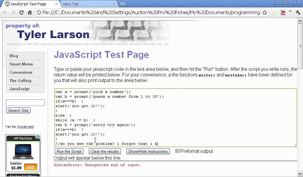 javascript game progtramming tutorial pdf