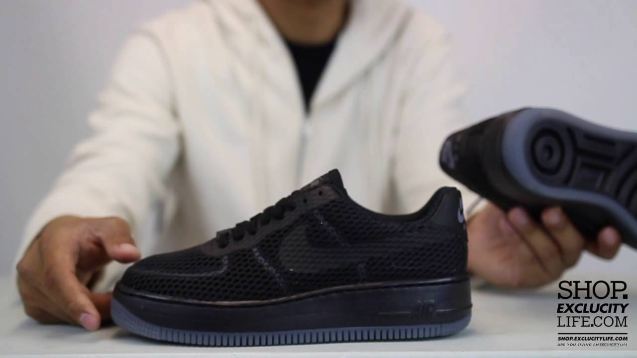 newest 0f192 592f4 Women's Air Force 1 Low Upstep BR Black Anthracite Unboxing Video at  Exclucity