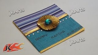 DIY  Raksha Bandhan Greeting Card | How to Make | JK Arts 301